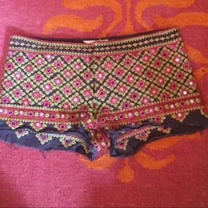 Free People shorts with mirror embelllishment